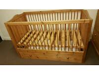 Baby Cot bed with big storage drawer