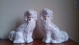 Beautiful figurines dogs