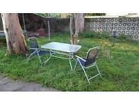 Garden table and 6 x chairs