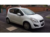 Suzuki Splash 1.0 SZ2 5dr Hatchback, White, low miles, new MOT and tax to May 2017, 1 lady owner
