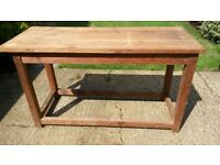Large Vintage Wooden Work Bench for Up-Cycling to Kitchen Island, Bar, Table or Sideboard