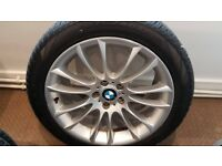 set of 4 Genuine BMW 19 inch alloys with tyres fit 5 series GT F07 and some 7 series