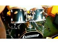 Ludwig Accent Custom Drum Kit + Great Extras
