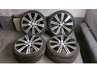 LAND ROVER RANGE ROVER 22 INCH STORMER ALLOY WHEELS 5X120 T5 DISCOVERY SPORT VW VOGUE