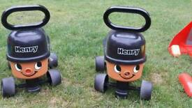 Henry hoover ride on