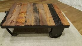 CART COFFEE TABLE, VINTAGE INDUSTRIAL STYLE