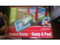 Bounce house + slide and pool
