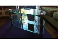 Glass 3 tier television stand.