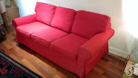3 Seater Sofa bed, IKEA Ektorp classic design. Tough, with reversible cushions and washable covers.