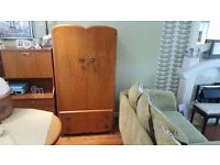 Vintage Retro Small Gentlemans Wardrobe 2 Drawer Chest Sideboard Side Board Durable Suites Ltd