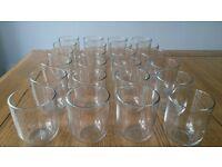 24 Glass tumblers