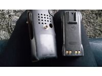 Motorola 7.5 battery & Leather case holder
