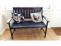Bench Painted Black Shabby chic VIP