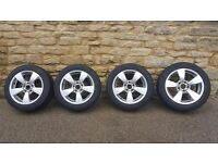 BMW 5 series alloy wheels and tyres 17inch set of 4