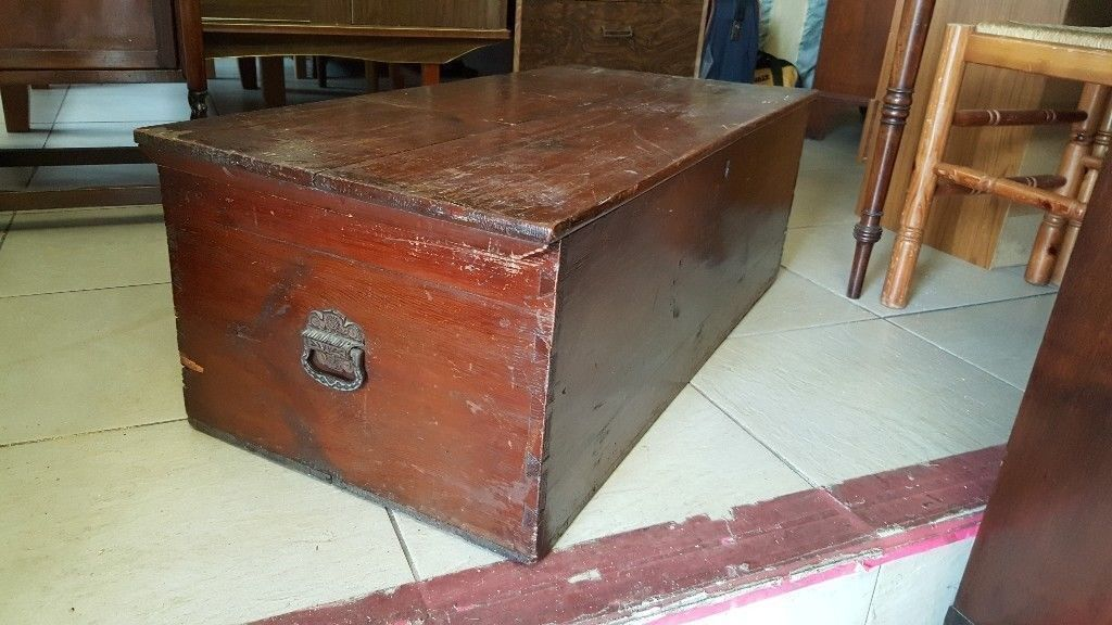Antique Blanket Chest Coffee Table Toy Box
