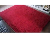 'Next' Cosy Rug - Red