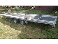 CAR TRAILER 2700 KILO 17 ft 7.5 ft tandem wheels BRAND NEW CHEAP 2017 5 METERS