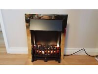 Gold frame electric insert fire