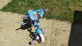 Disney Frozen child's small bike.