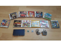 New Nintendo 3DS XL - Metallic Blue with 13 Games