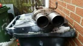 Custom stainless steel exhaust back box's