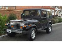 Jeep Wrangler 4.0 (LHD) + (LEFT HAND DRIVE) + 1995/M REG + UK REG + HARD TOP + 80K + RUST FREE +