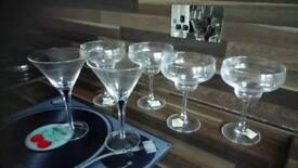 6 x new cocktail glasses £10 lot