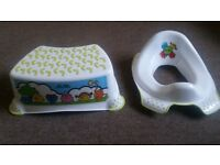 Toilet training seat and step. Never used!!!!