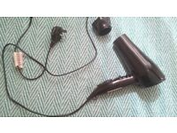 Super cheap hair dryer + a x4 plug expansion with 2 european fuse adaptors if wanted