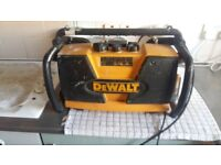 Dewalt site radio and charger