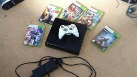 Xbox 360, All the wires, 5games, controller