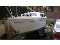 Hurley 20 sail boat with trailer / Project