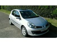 Renault Clio Dynamique 1.4 Petrol, Manual, 5 door, 12 Mths MOT. 2 Owners, Silver, Full Glass Sunroof