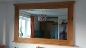 Extra large pine mirror 164cm x 106cm