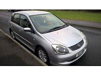 Honda Civic SE Auto 1.4 (2004) 5door, 10months MOT, 74000 miles, ( bmw, mercedes, fiat, WV,renault)
