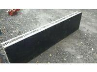 Prolyte Litedeck 8x2 quality welded Aluminium with marine ply deck. Corner brackets for legs.