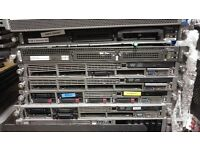 HP SERVERS JOB LOT G3 AND G4 RACKMOUNTED