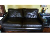 2 John Lewis leather sofas. Price reduced for quick sale