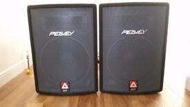 2 x Peavey Hisys 2XT's passive speakers