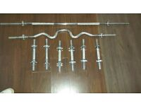 weight set ,dumbbell, barbell and weights bars 160 kg with stand