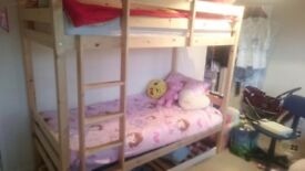 Solid pine adult bunk beds