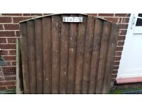 Strong sturdy wooden gate and small fence pane total length 3.26m in 3 Parts 1.24m - 1.23m - 0.790m