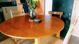 Danish retro style table and 4 chairs