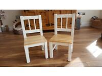 Set of 2 Wooden Children's Chairs