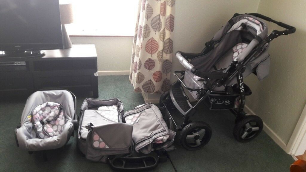 Baby Stroller Carseat Travel System Buggy Lirdo 3in1 Baby Pram with Cot