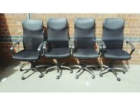 Swivel Executive Office Chair Mesh Seat Adjustable Computer Desk Chair High Back