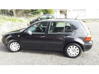 2001 VW Golf TDI, Black, Full Service History, 50+mpg. Great, reliable car. No rust.