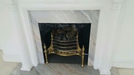 Brass Fire Grate and Surround
