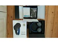 SONY MDR-ZX770BNL Wireless Bluetooth Noise-Cancelling Headphones - Blue RRP £120