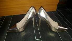 stunning rose gold stiletto heels from next size 4.5 worn once